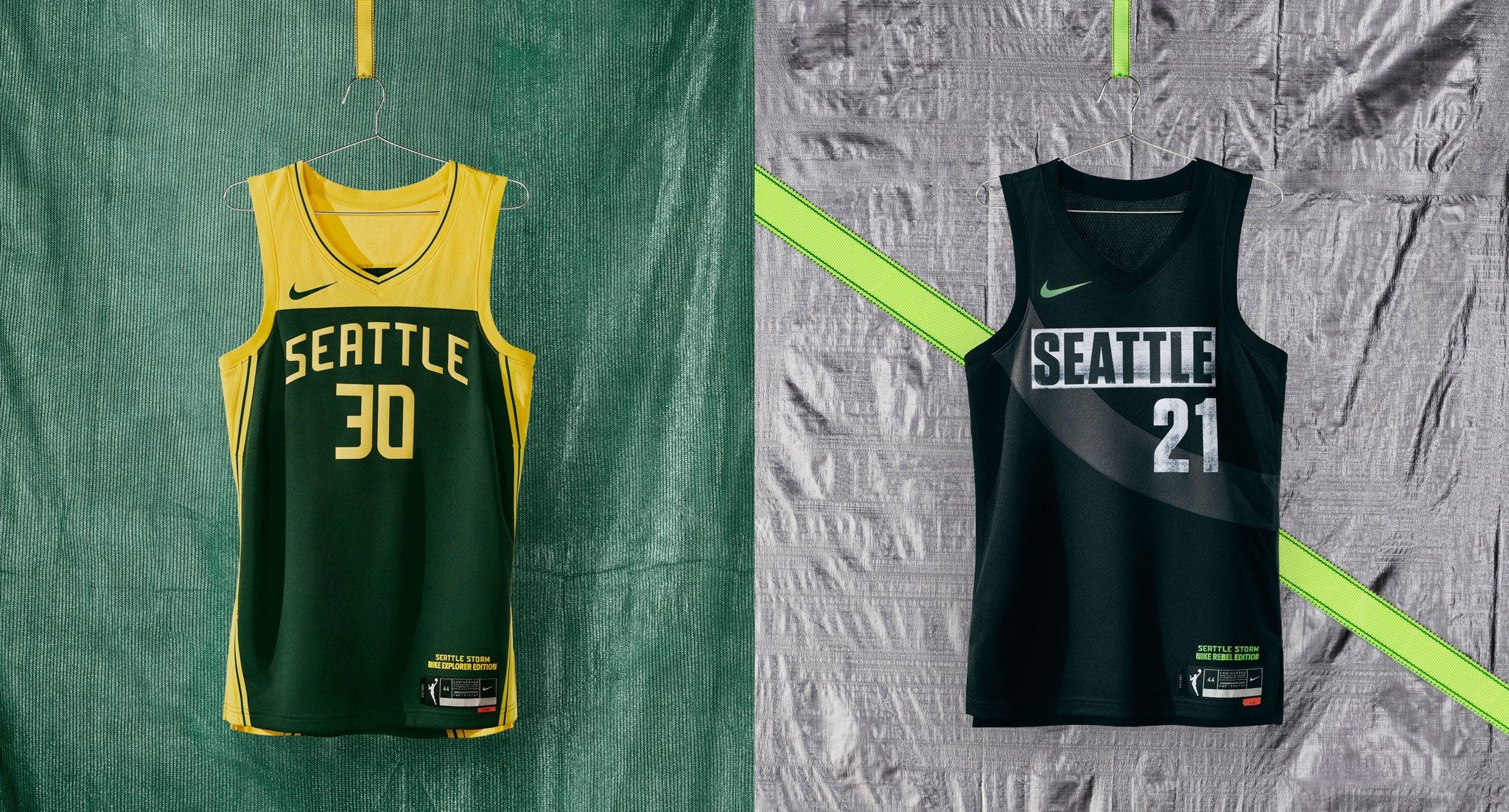 Seattle Storm WNBA jerseys