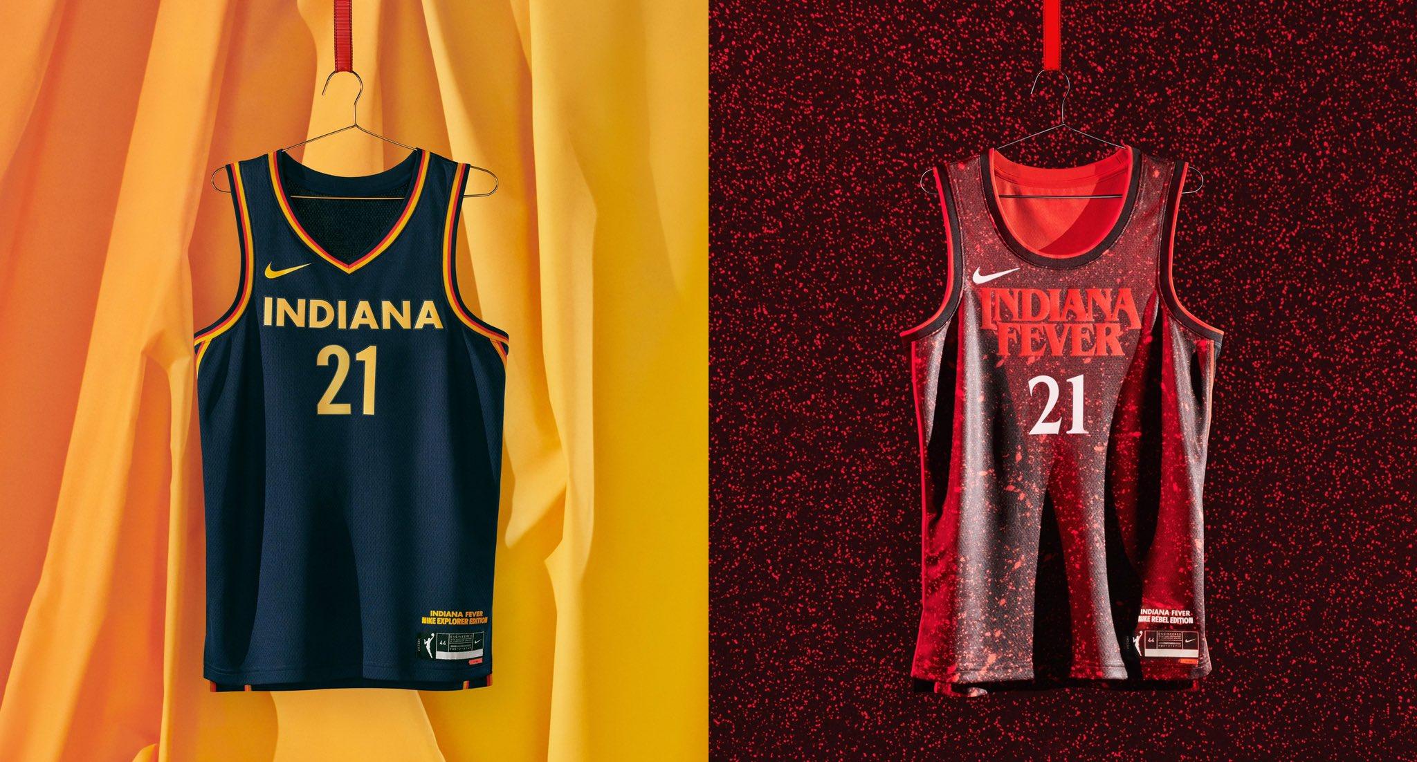 Indiana Fever WNBA jerseys