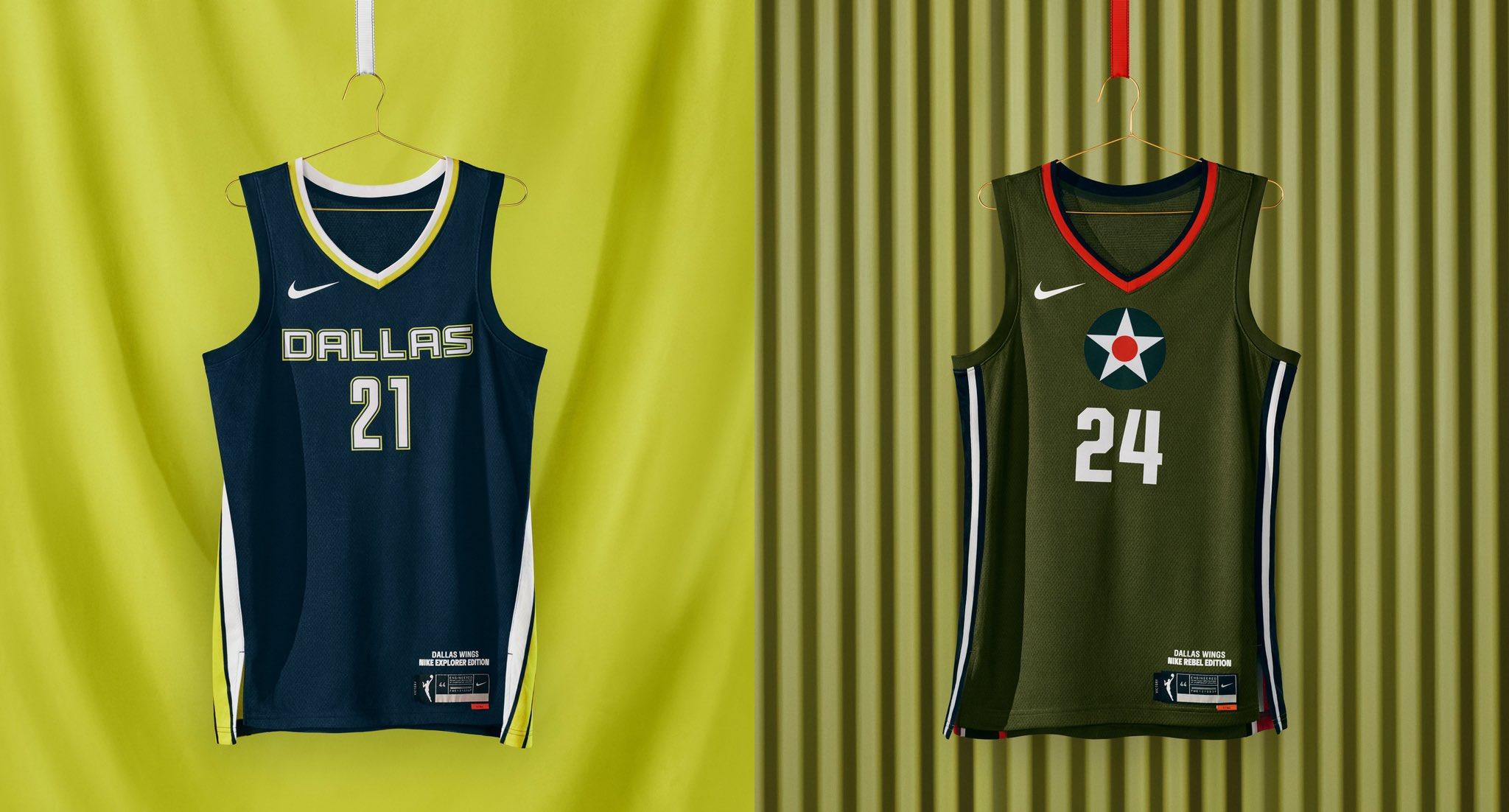 Dallas Wings WNBA jerseys