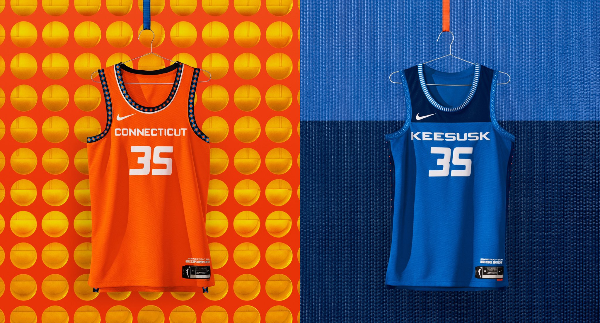 Connecticut Sun WNBA jerseys