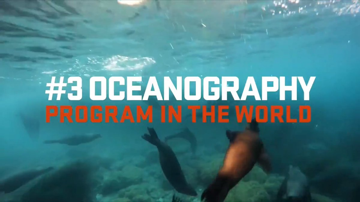 Image for the Tweet beginning: Our oceanography program is among