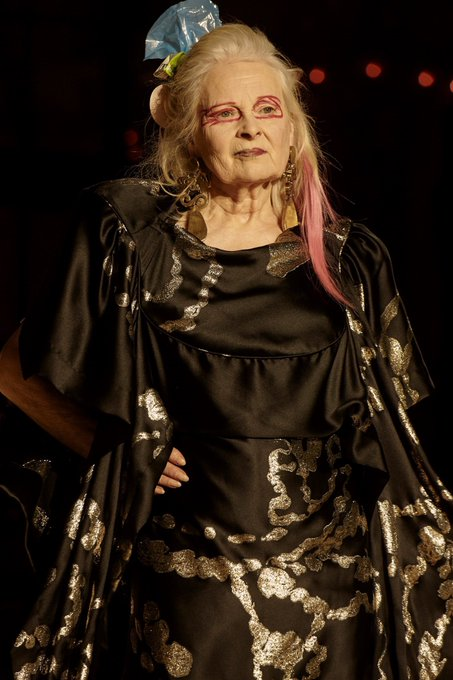 Vivienne westwood walking in her own shows, happy birthday to this icon