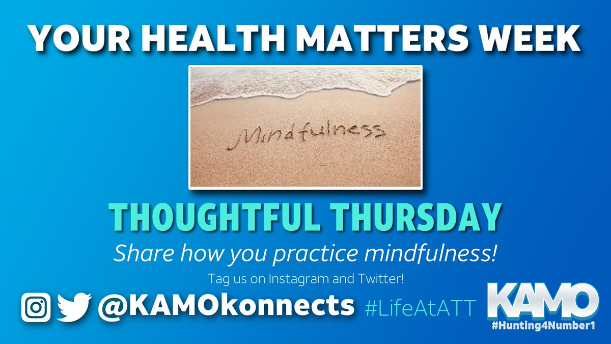 #YourHealthMattersWeek continues with #ThoughtfulThursday  We want to hear about how you practice mindfulness in a challenging 🌎 Share your thoughts and be sure to tag us!  #LifeAtATT