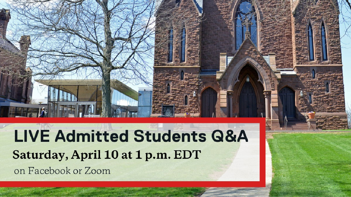 test Twitter Media - Our first LIVE Admitted Students Q&A will happen this Saturday, April 10 at 1 p.m. Our current students can't wait to answer any questions you have about Wes and to share their experiences.  Watch live on Facebook or participate on Zoom: https://t.co/Cq7H1wwdCe https://t.co/6YFjVj3ROs