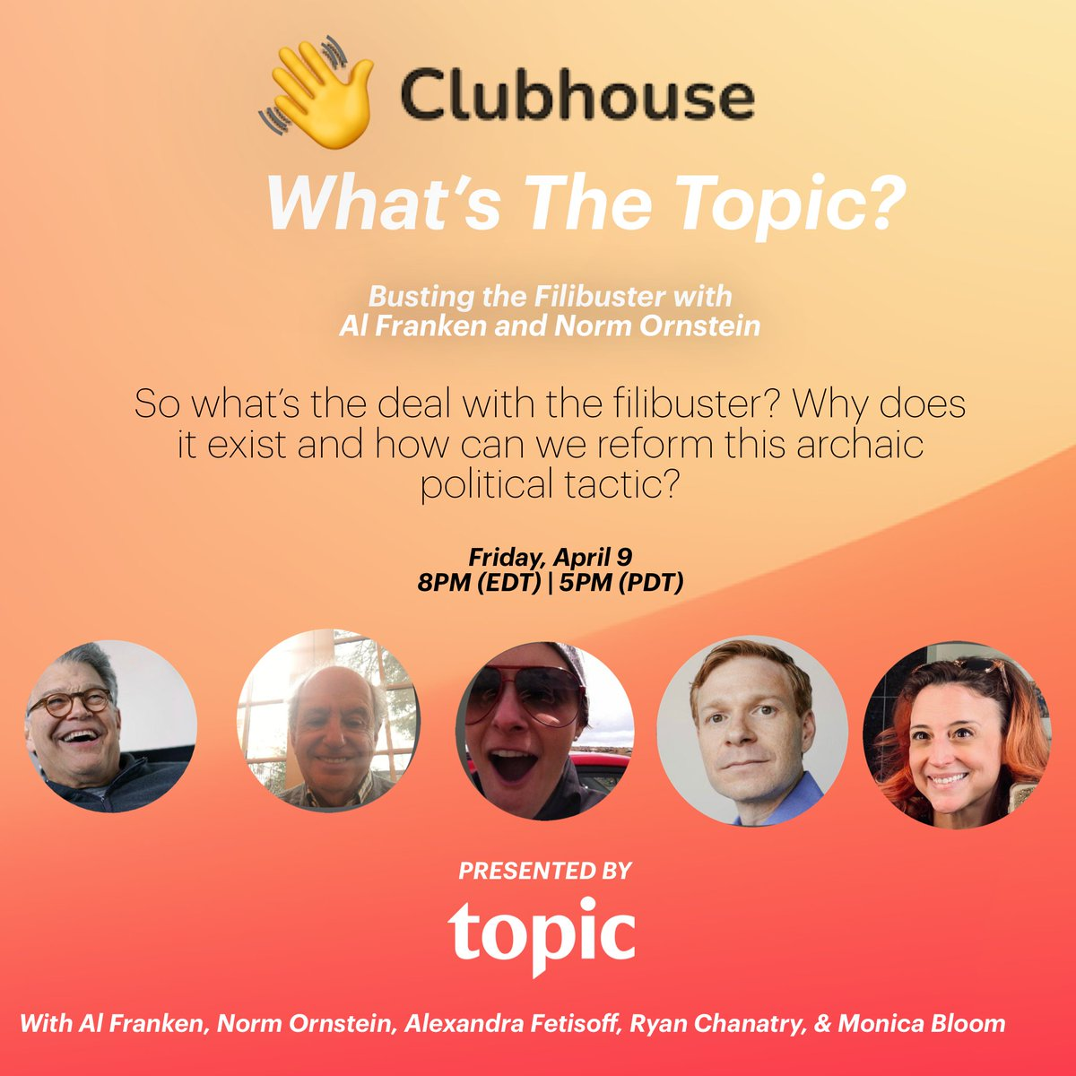 How do we get past the #FILIBUSTER? Make them get 41 instead of our getting 60. And then make them stay there all night! Please join me and @NormOrnstein and @topicstories on Clubhouse tonight at 8pm ET/5pm PT.