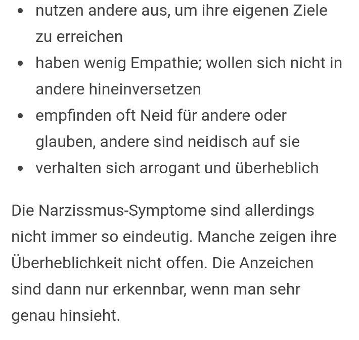 Symptome narzissmus 31 Revealing
