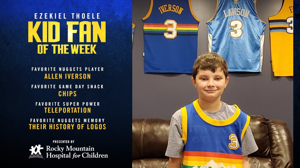 Congrats to Ezekiel, our latest @RMHCFamily Kid Fan of the Week!   ↪️ https://t.co/6YXH9c8SZi  #MileHighBasketball https://t.co/Jvn5dUoRTI