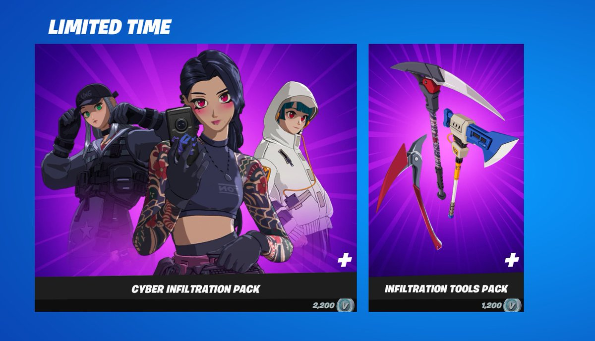 Fortnite Pack In Item Shop Shiina On Twitter The Anime Pack Is Now In The Item Shop Use Sac Shiina Or Literally Any Other Code When Purchasing It Also It Actually Costs V Bucks And Not Real Money