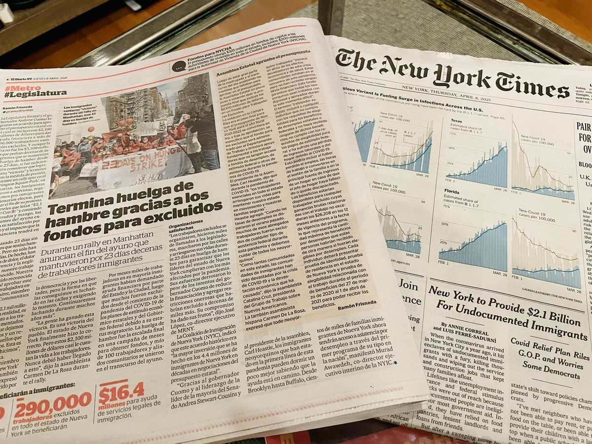 El Diario & The New York Times! #FundExcludedWorkers