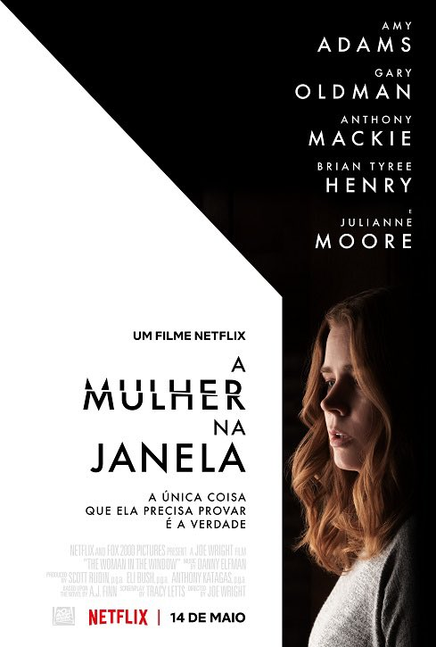 Preparados para Amy Adams dando um show de atuação? 'A Mulher na Janela' ganhou um novo pôster! O filme chega na Netflix dia 14 de maio. https://t.co/Z6kVoyXFzZ