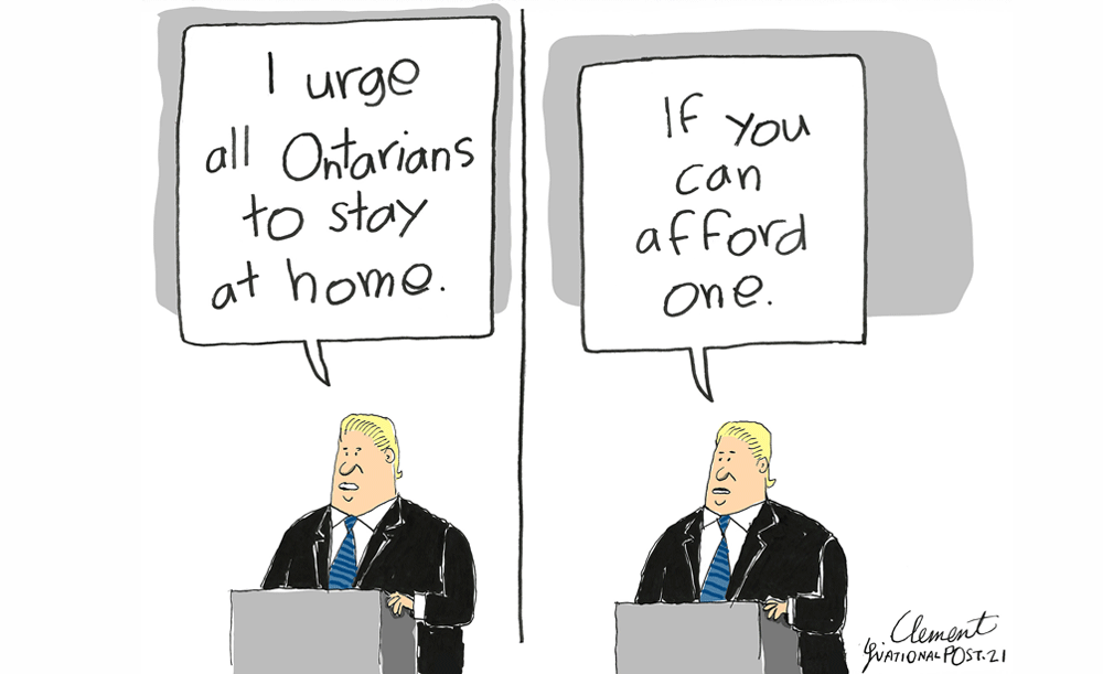 Gary Clement on Doug Ford's stay at home order.
