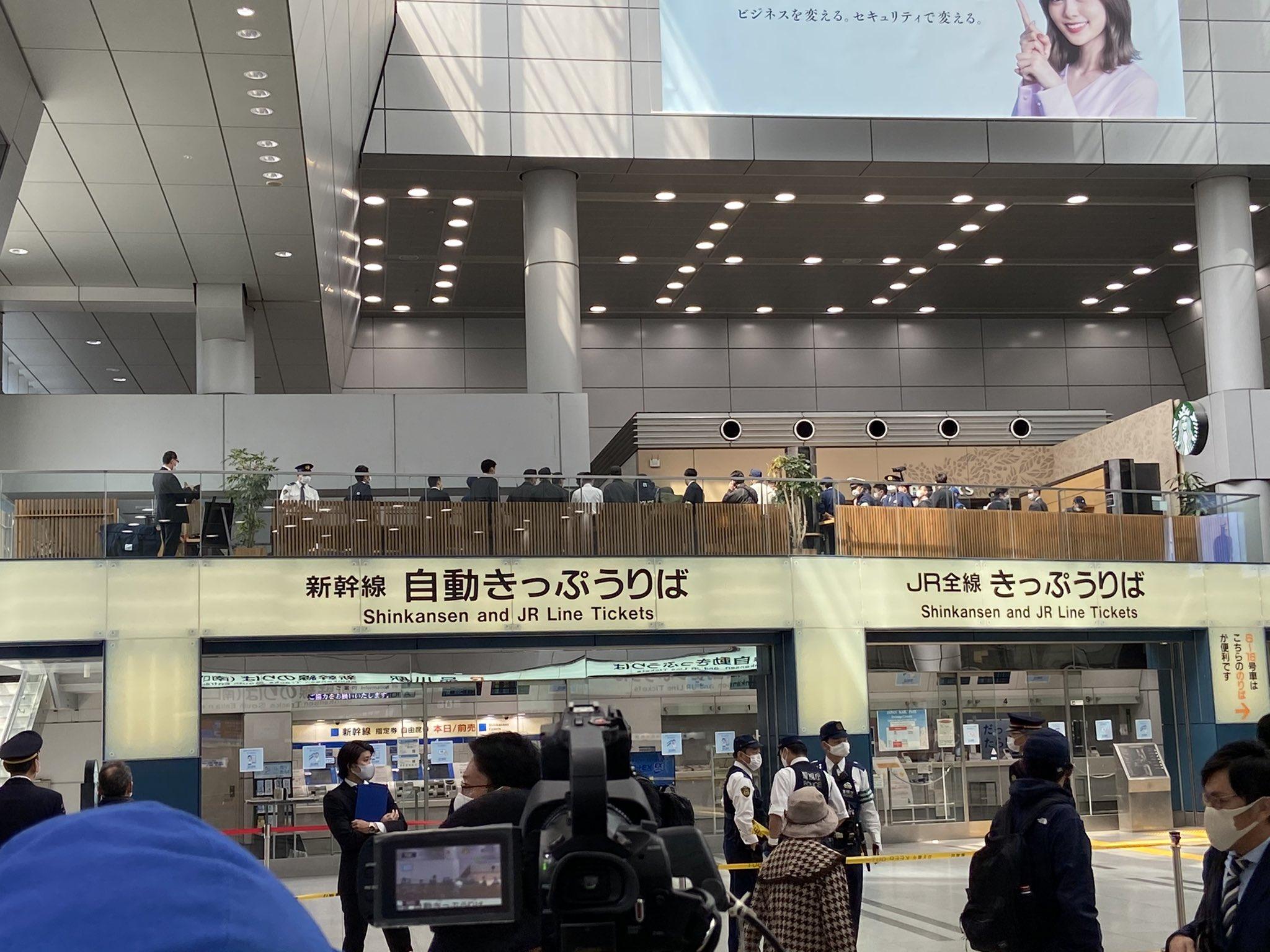 品川駅のスタバで不審物が見つかった現場の画像