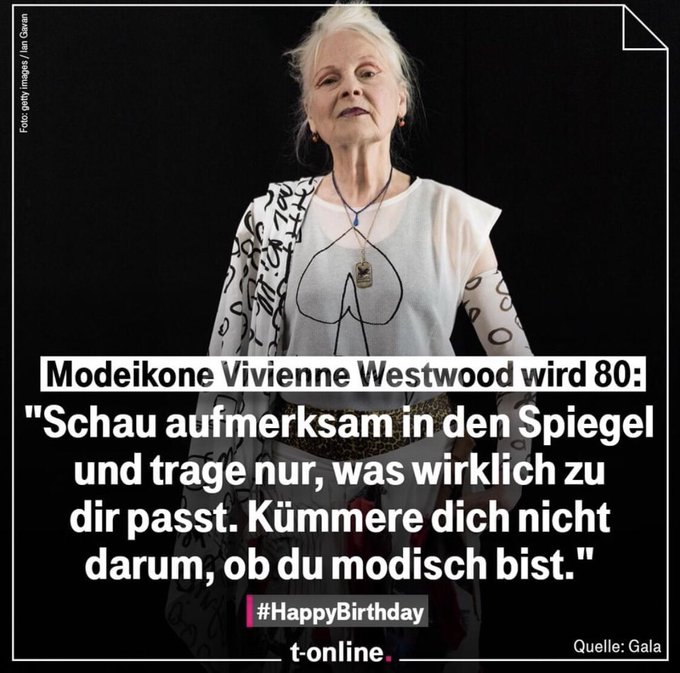 Jepp! Happy Birthday, Vivienne Westwood