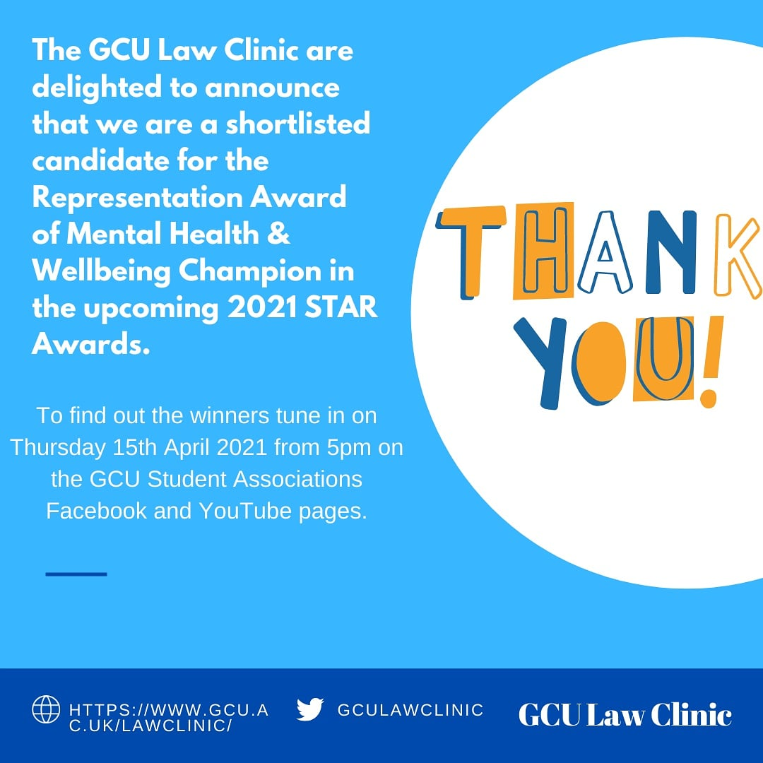 Twitter image from @GCULawClinic