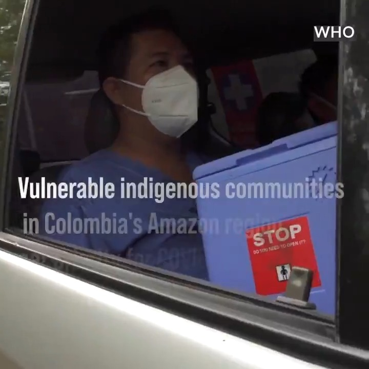 In the Amazon region of Colombia, @UN colleagues & partners have set up pop-up #COVID19 vaccination clinics to help indigenous communities.  We will continue helping safeguard the rights, health & safety of indigenous people, as we work to defeat the pandemic. https://t.co/BZicTqzu5z