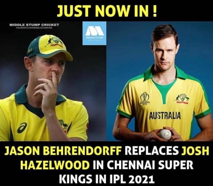 Replacement of Josh Hazlewood in Chennai Super Kings
