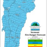 Image for the Tweet beginning: Predicted fire danger for Friday