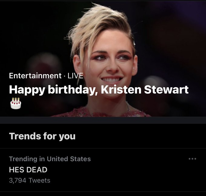 This shouldn t have made me laugh but it did. anyway, happy birthday kristen stewart