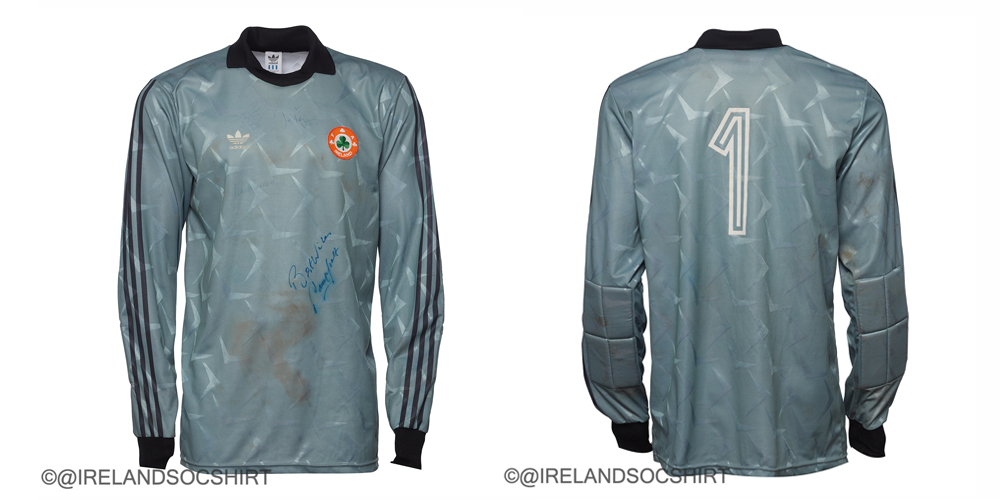 Packie Bonner Ireland 1990 Match Worn
