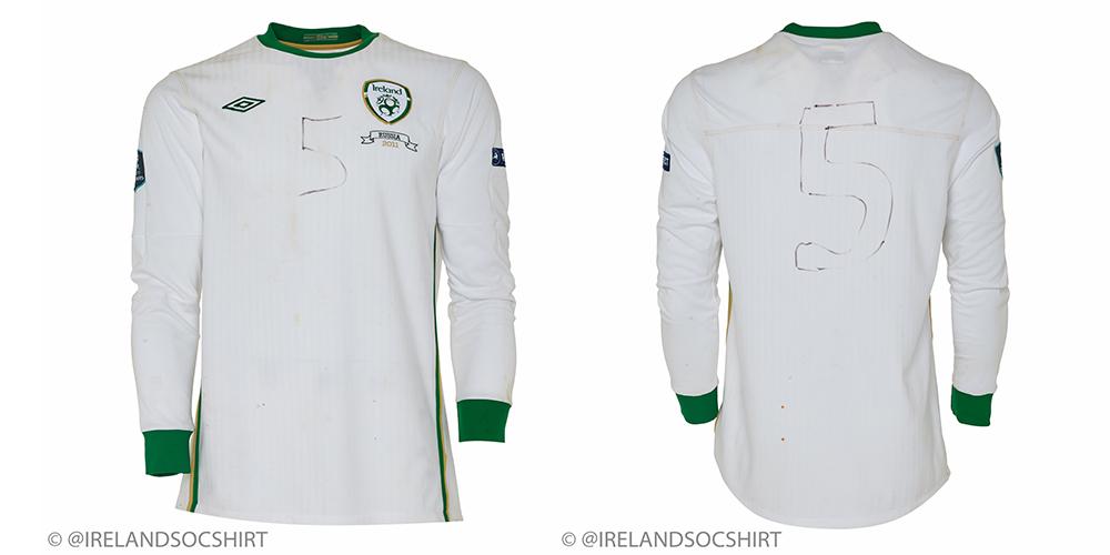 Richard Dunne Ireland Match Worn vs Russia 2011