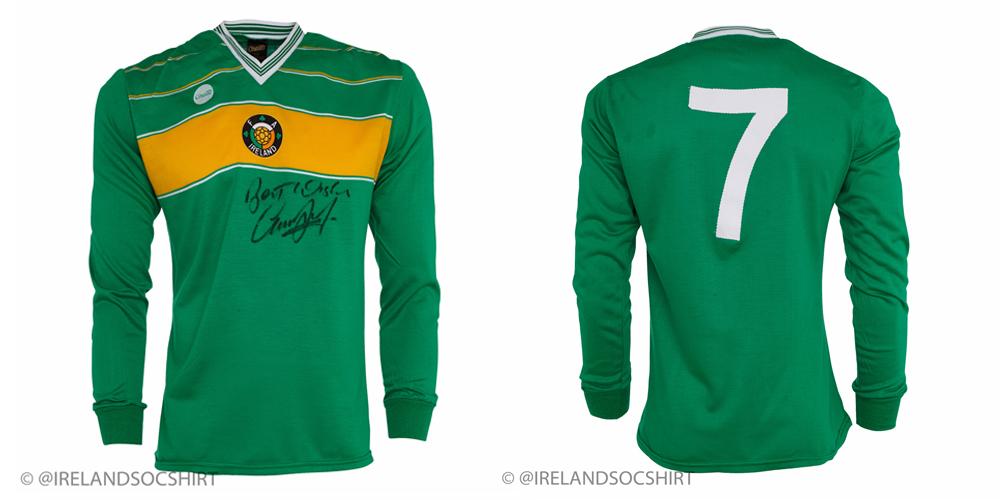 Gerry Daly Ireland Match Worn Shirt 1985