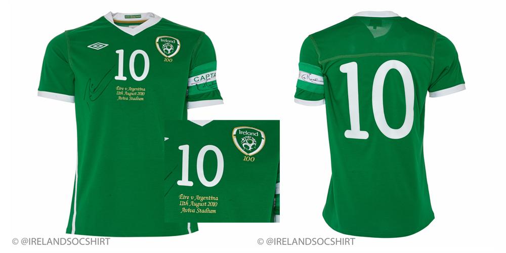 Robbie Keane Ireland Match Worn Shirt vs Argentina