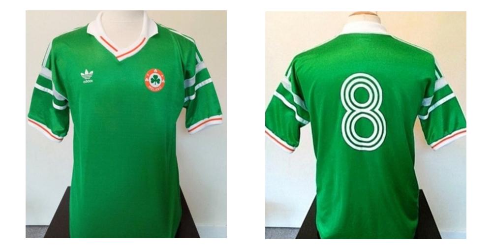 Ray Houghton Ireland Match Worn Euro 88 shirt vs England