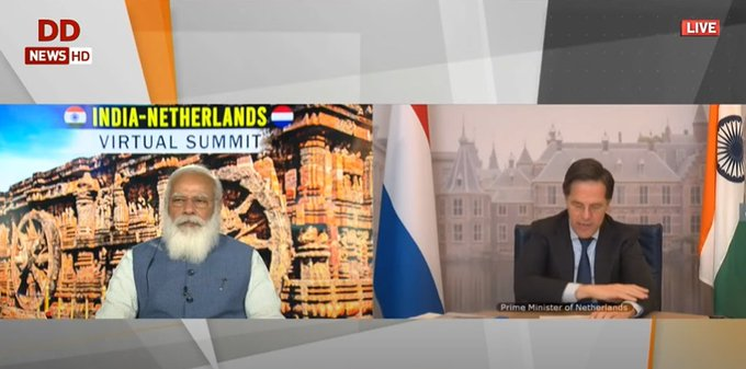 India, Netherlands ties are based on shared values of democracy: PM Modi
