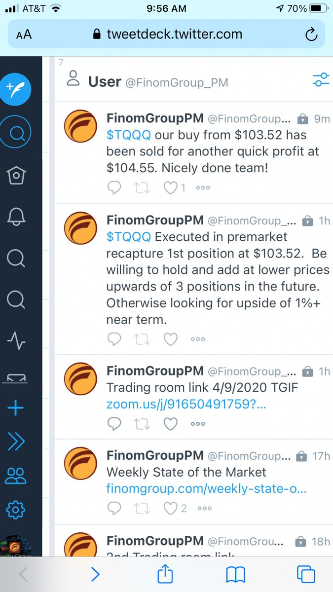 Done did it again folks: $TQQQ long from $105.81 to $106.93. Subscribe and trade with us at https://t.co/RfhuhKho7v See our trades.  $TGT $WMT $UVXY $SPY $QQQ $PEP $VZ $SHOP $NFLX $TSLA $BBBY $BYND $FB $TWTR $KO $T $KSS $SPY #trading