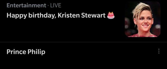 Wow happy birthday Kristen Stewart, so glad nothing else of note happened today