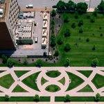 """For #EarthDay, check out the 2004 environmental artwork """"Filippine Garden,"""" by artist Valerie Jaudon. It was commissioned by GSA's Art in Architecture program for the Thomas F. Eagleton U.S. Courthouse in St. Louis, MO.   Read more about the artwork at https://t.co/0LgAcP9Od7."""