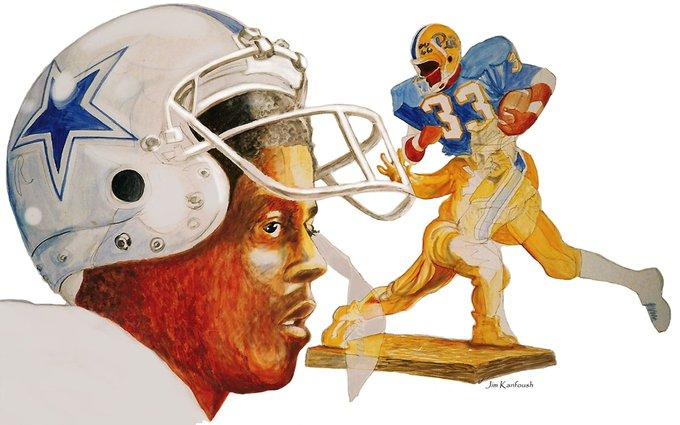 Tony Dorsett Happy 67th Birthday artwork by me