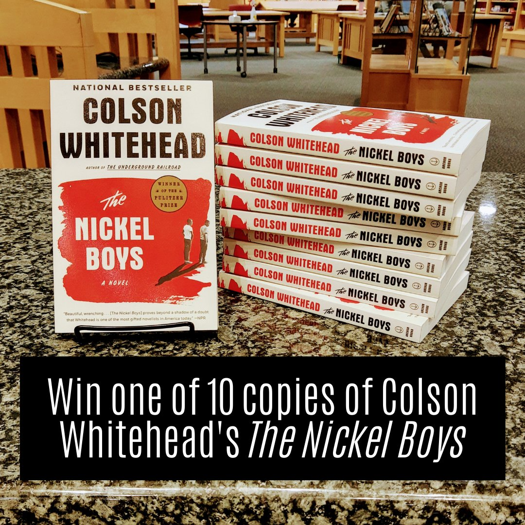 Hey students!  We're giving away 10 copies of Colson Whitehead's