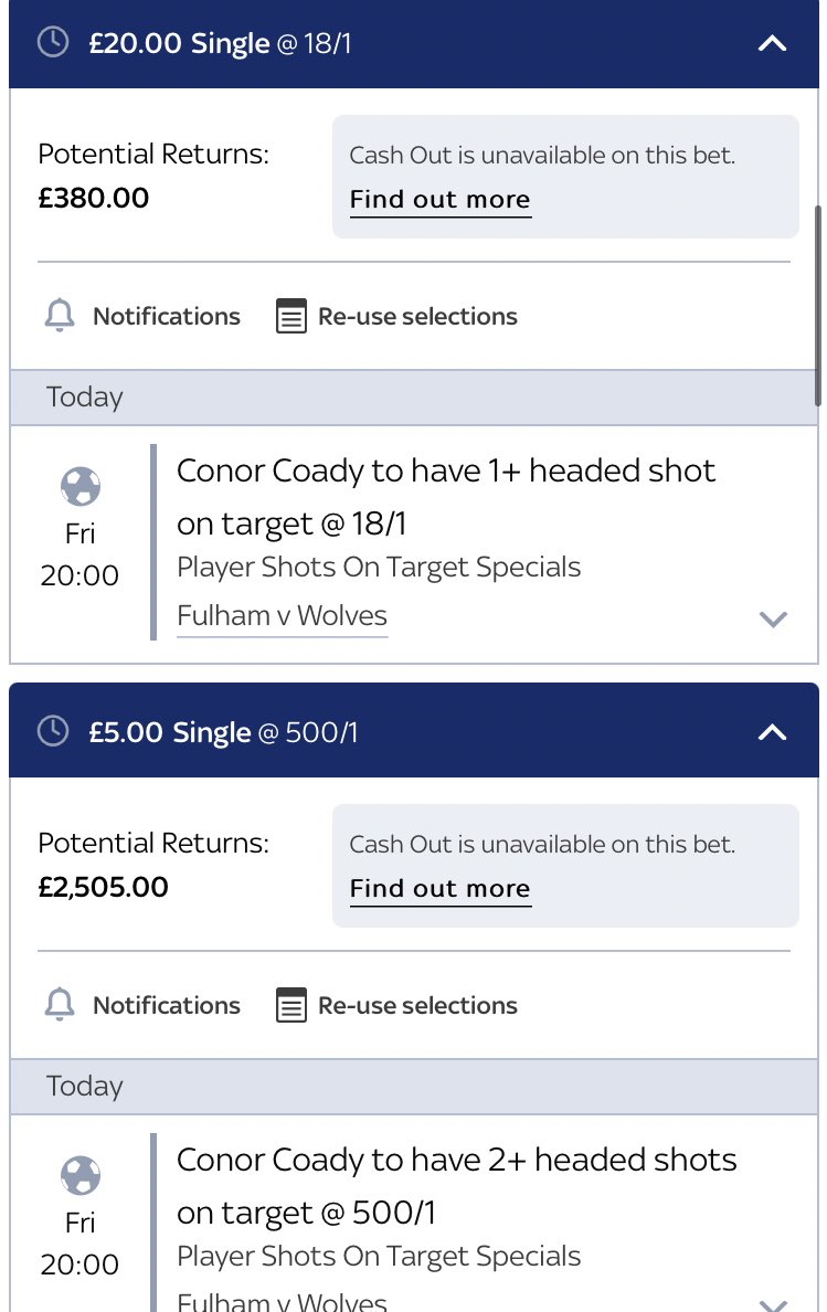 Bit of a price play tonight, these are too big, four games in a row he's had a headed shot now ( including one goal) so taking a chance we could get one on target, looks an attacking Wolves team so hopefully will get a few chances 🤞🏻  Sky Bet ⭐️1 Headed SOT 18/1  ⭐️2+ = 500/1 https://t.co/qnQ1Yz0SYC