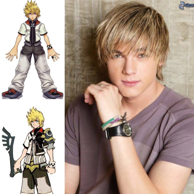 Happy 34th birthday to the english dubbed voice actor for Roxas and Ventus Jesse McCartney.