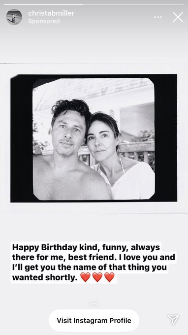 What did i do in life to deserve getting this instagram ad wishing zach braff a happy birthday