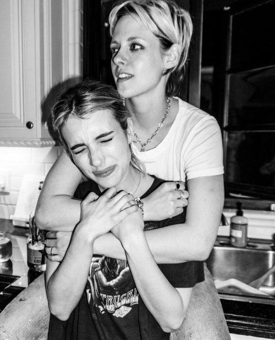 Emma Roberts wishing Kristen Stewart a happy 31 birthday!