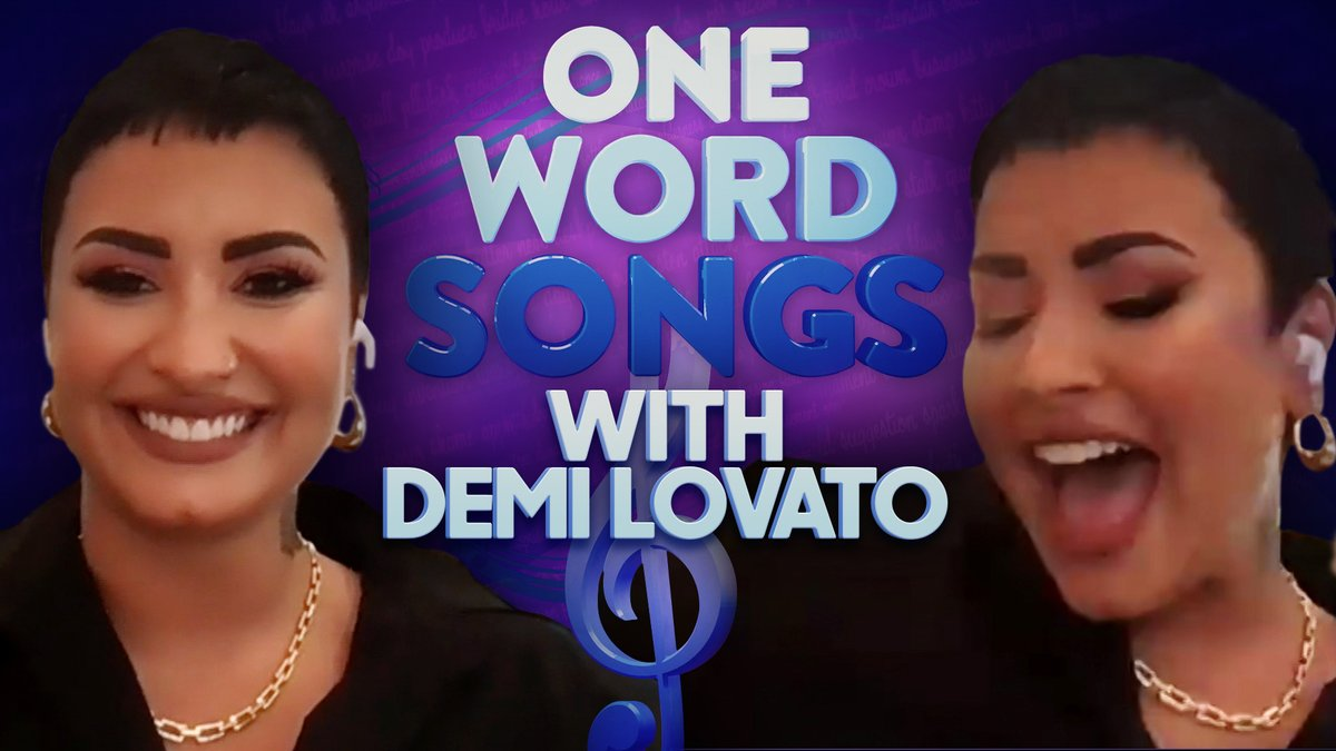 I'll say it again... BFF👏🏻 One Word Song Challenge with @ddlovato