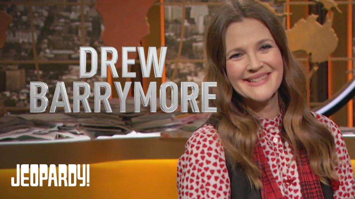 Don't miss @drewbarrymore on Jeopardy! today! @DrewBarrymoreTV