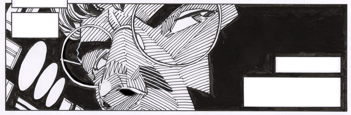 RT @WalterSimonson: A panel. Pen and India ink. 9.4 x 3.1. 2021. https://t.co/Z5C6iYZvcQ
