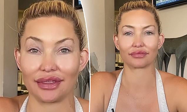 Kate Hudson plays around with an EXTREME face-altering filter on social media Photo