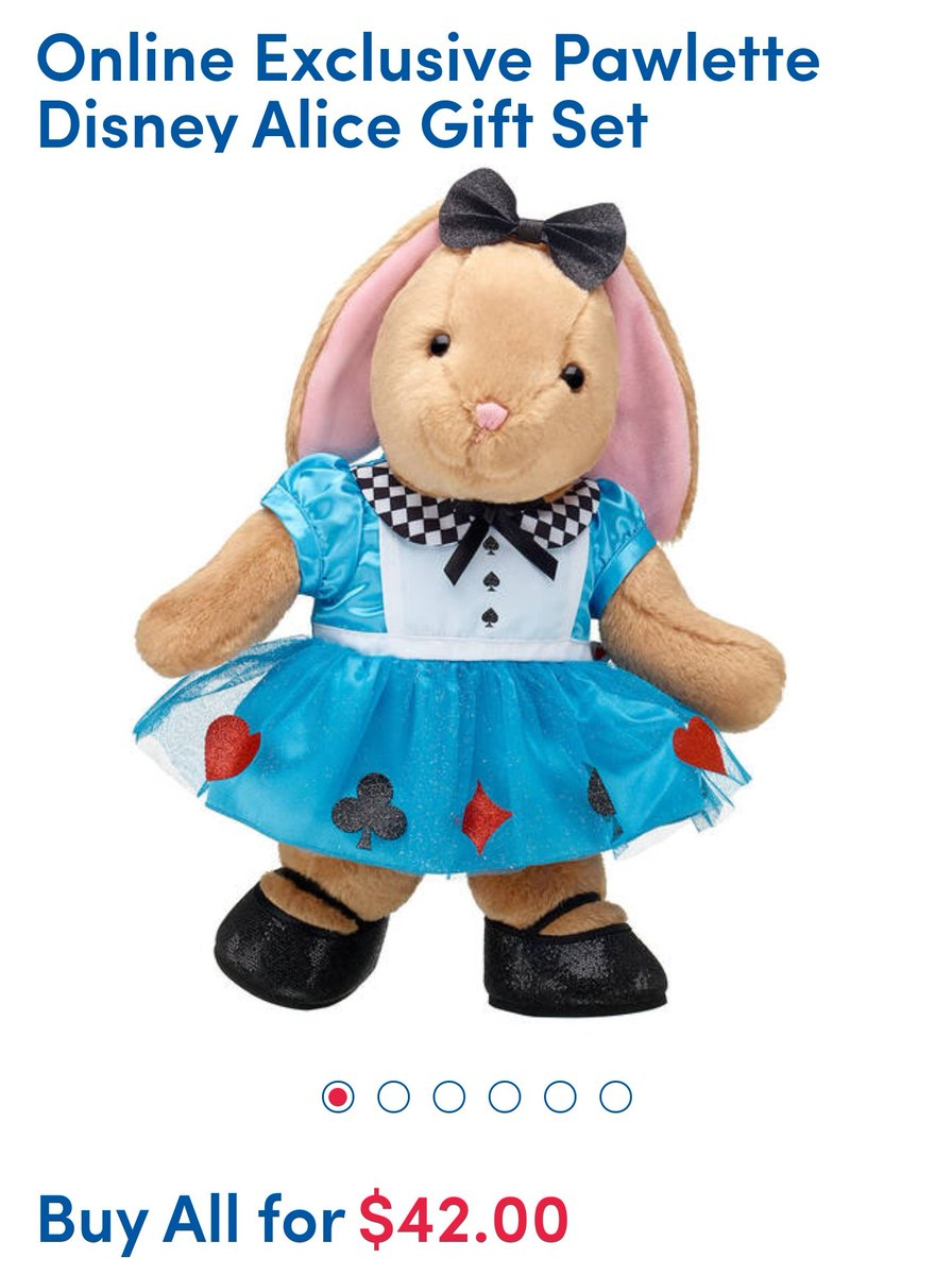My best friend informed me that build a bear has a special 70th anniversary Alice in Wonderland bunny gift set and I am in love https://t.co/qeBkWZE2Jj