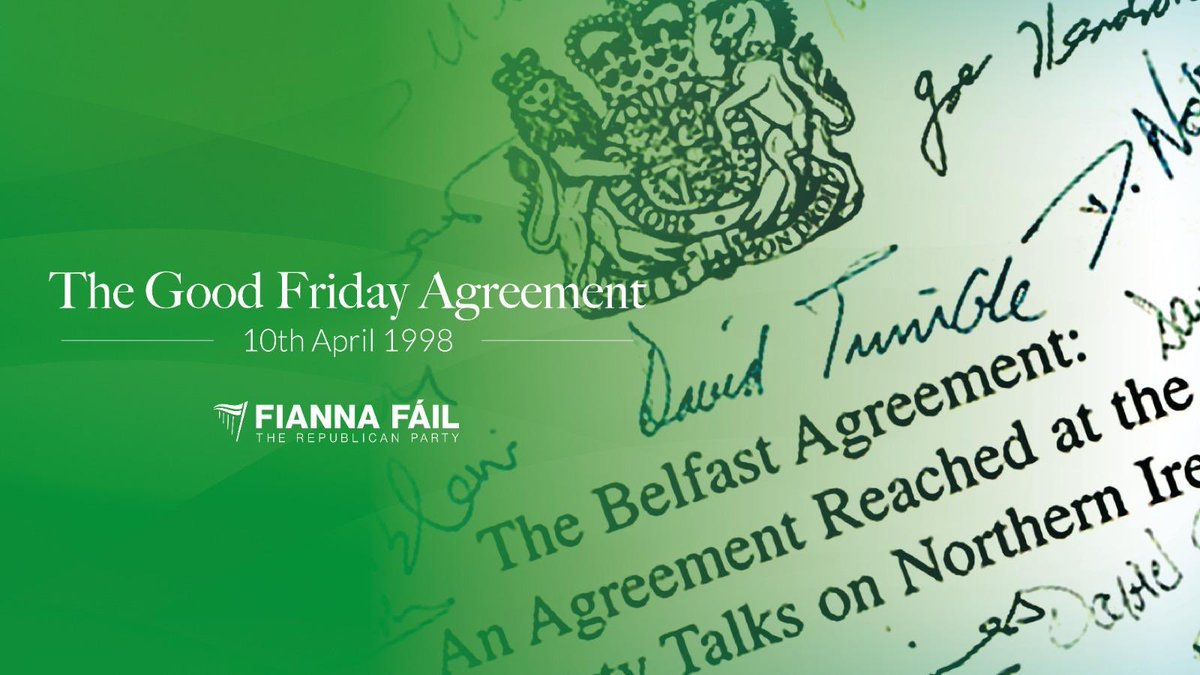 It's 23 years since all communities came together to embrace the Good Friday Agreement.  The agreement has at its core the principles of peace, reconciliation and parity of esteem.  These principles are as important and valid today as they have ever been. https://t.co/TBmwq4Lmq1
