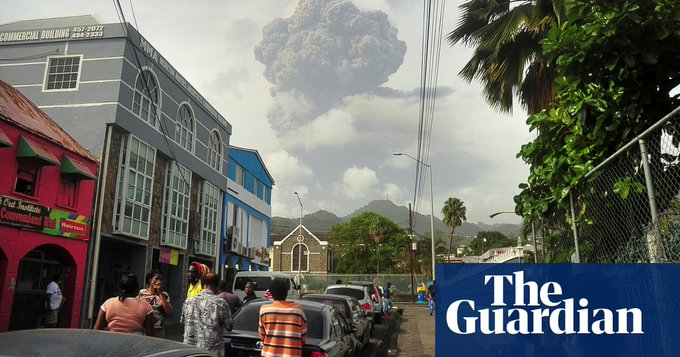 St Vincent volcano: heavy ashfall clouds evacuation efforts on Caribbean island Photo