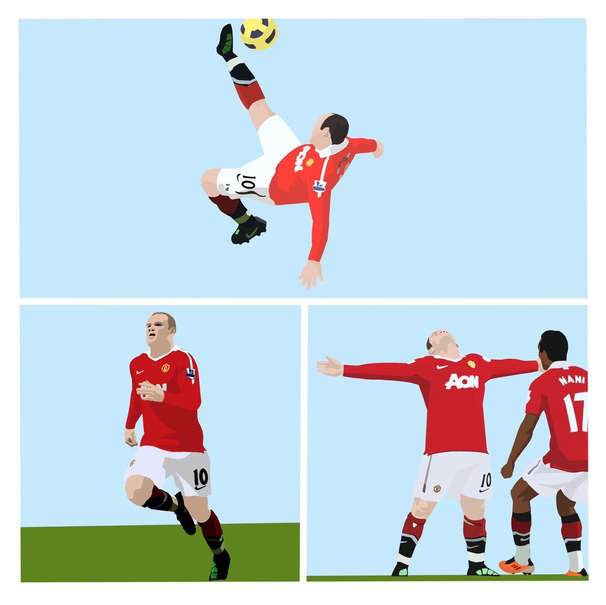 Iconic Goal. Wayne Rooney @ManUtd v Manchester City 2011 #manchesterunited #manunited #manutd #manchesterderby #waynerooney #rooney #football #footballart #digitalart #iconic #rooney10 #premierleague #premierleagueart https://t.co/7GlekVnOg2