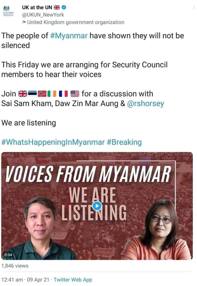 """@UNinMyanmar """"We are ready to pay any cost to get back our rights and freedom""""  #FreeAungSanSuuKyi  #FreeAungSanSuuKyiAndDetainees  #FreeDawAungSanSuuKyi  #WeSupportCRPH  #WesupportCRPHGovernment  #AungSanSuuKyi  #WeSupportCDM  #RejectMilitaryCoup  #EchoOfMyanmar  #WhatsHappeningInMyanmarNow https://t.co/IoS3oLIItf"""