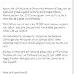 Image for the Tweet beginning: 🔴Els @mossos han comunicat que