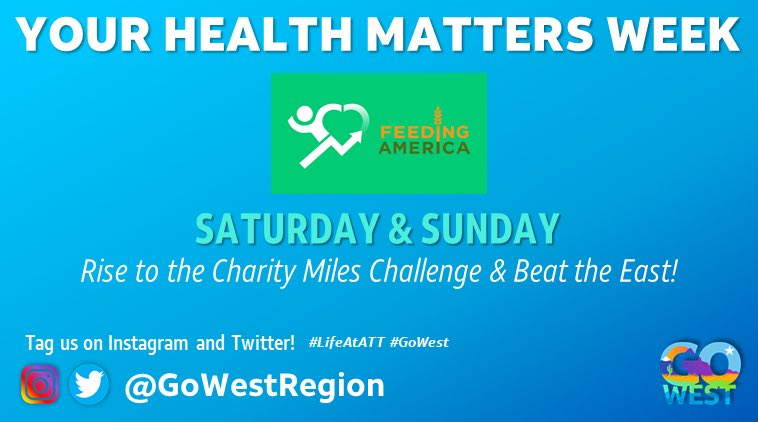 How many miles have you logged this week? We want to see you out there getting active – tag us with your pics! #LifeAtATT #GoWest #YourHealthMattersWeek  @Pacific_Force @rockymtn_region @DesertSW_ @OWNsocal @ncannihilate @ntx_market @STXspeaks @BOLDNP @KAMOkonnects