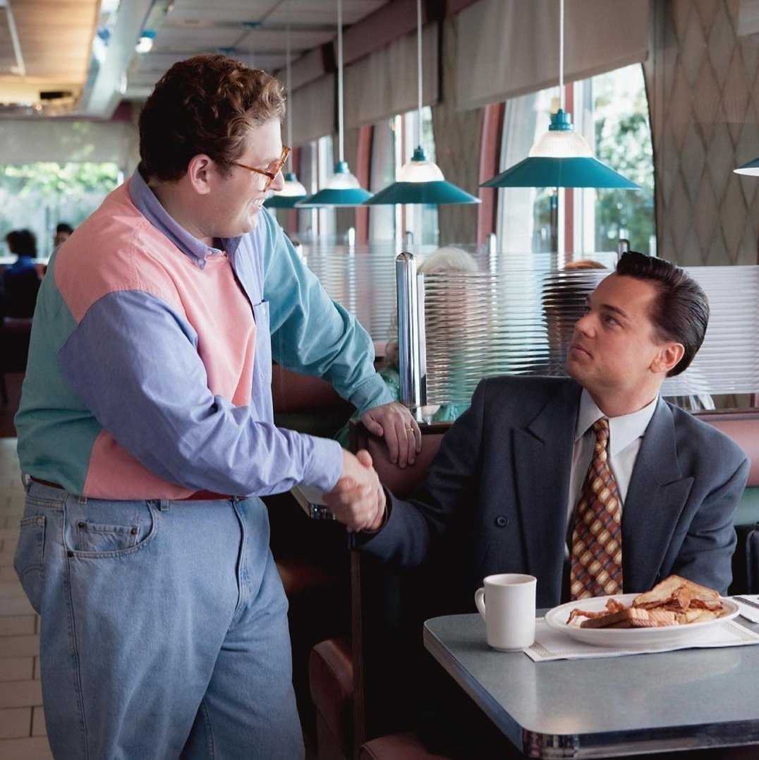 The best job interview ever was between Leonardo DiCaprio and Jonah Hill; https://t.co/qa1J0gc3Mk