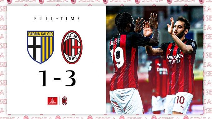 Skor akhir Parma 1-3 AC Milan